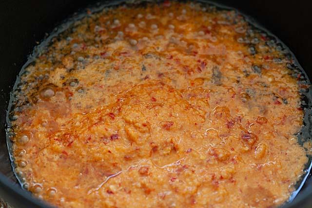 Peanut sauce spice paste