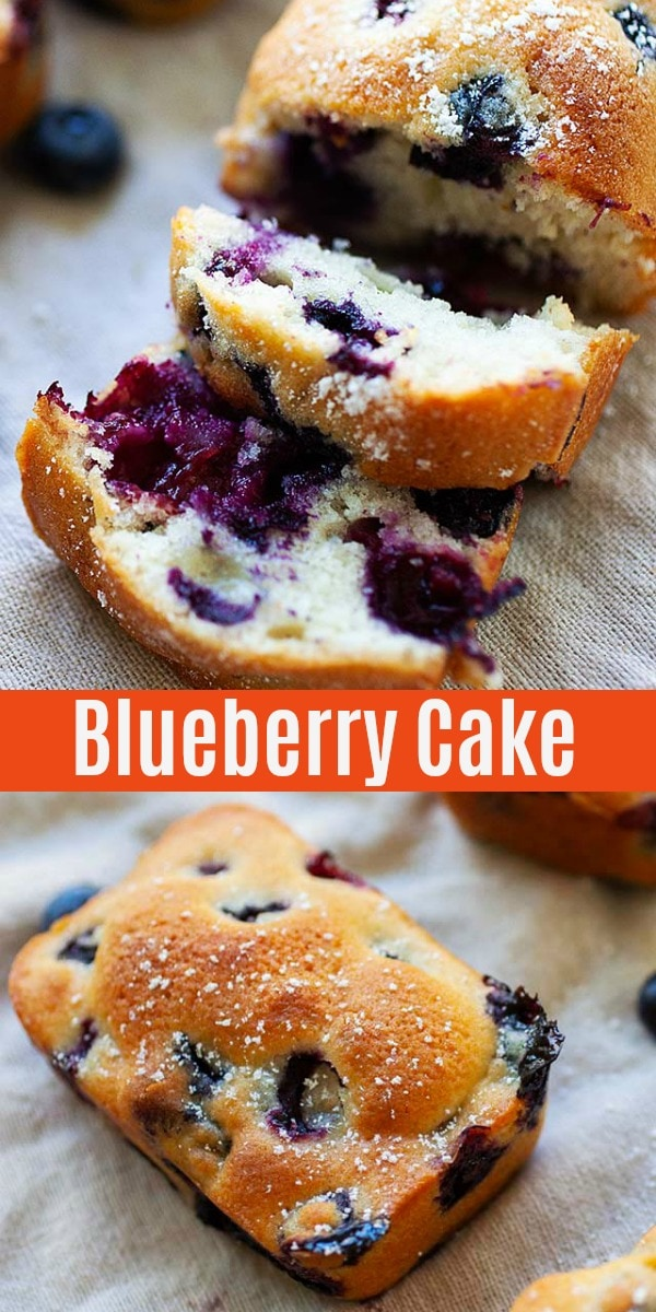 Blueberry cake packed with fresh blueberries. This healthy and best blueberry cake recipe is perfect anytime of the day and great with coffee.