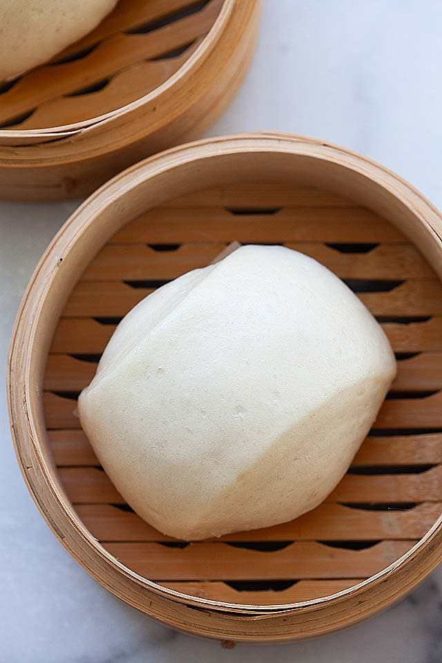Sweet steamed buns with the best steamed buns recipe.