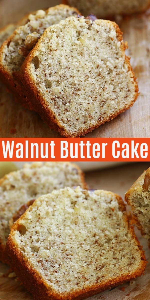 Walnut butter cake with ground walnut in rich and buttery cake. If you love walnut, you'll love this amazing walnut butter cake recipe. So delicious!