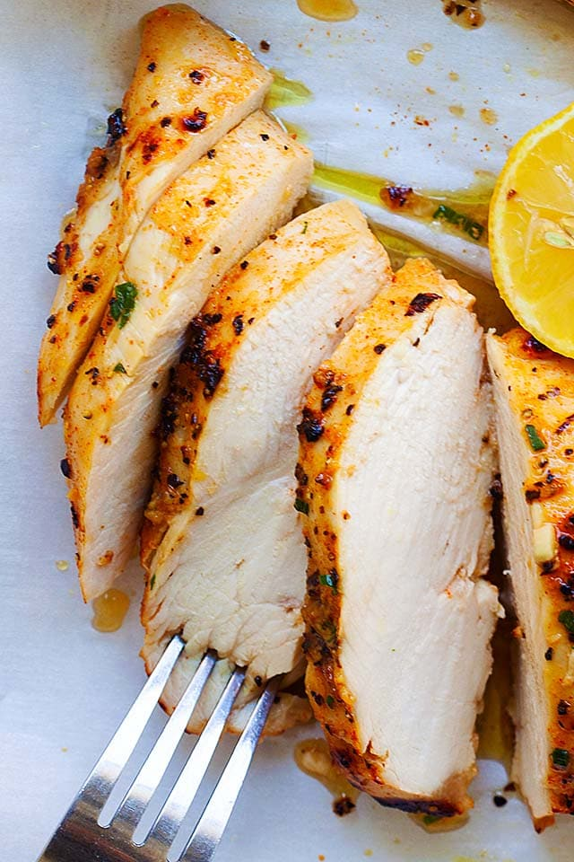 Healthy baked chicken breast recipe.