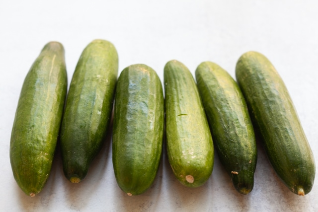 Fresh cucumbers for pickled cucumber.
