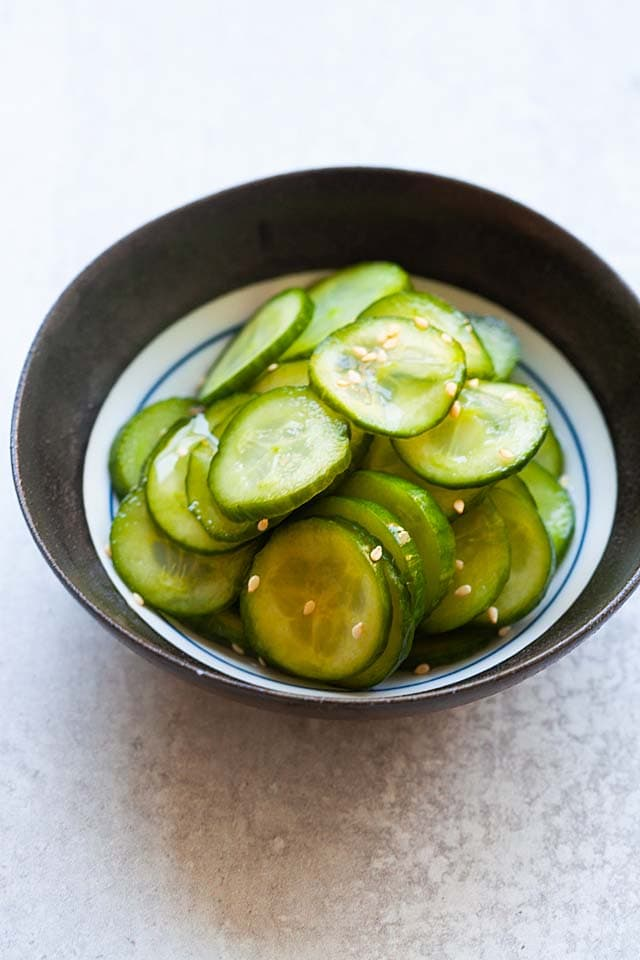 Pickled cucumber.