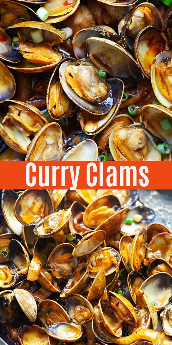 Juicy and flavorful curry clams with savory curry sauce. This Malaysian clam recipe is a street food favorite, and can be made at home with my easy recipe!