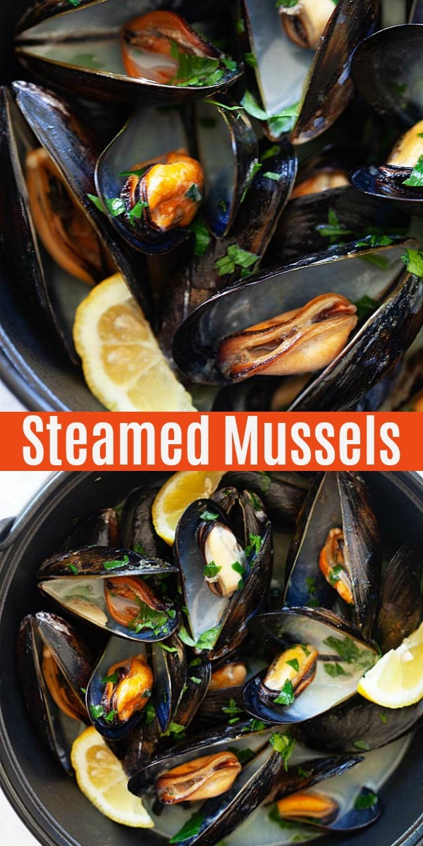 Moules à la Marinière Recipe - French/Belgium-style mussels cooked with white wine, onions, and parsley.