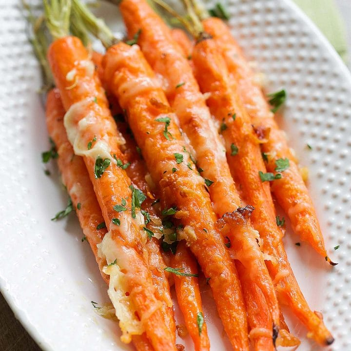 One of the best carrot recipes is garlic parmesan roasted carrots.