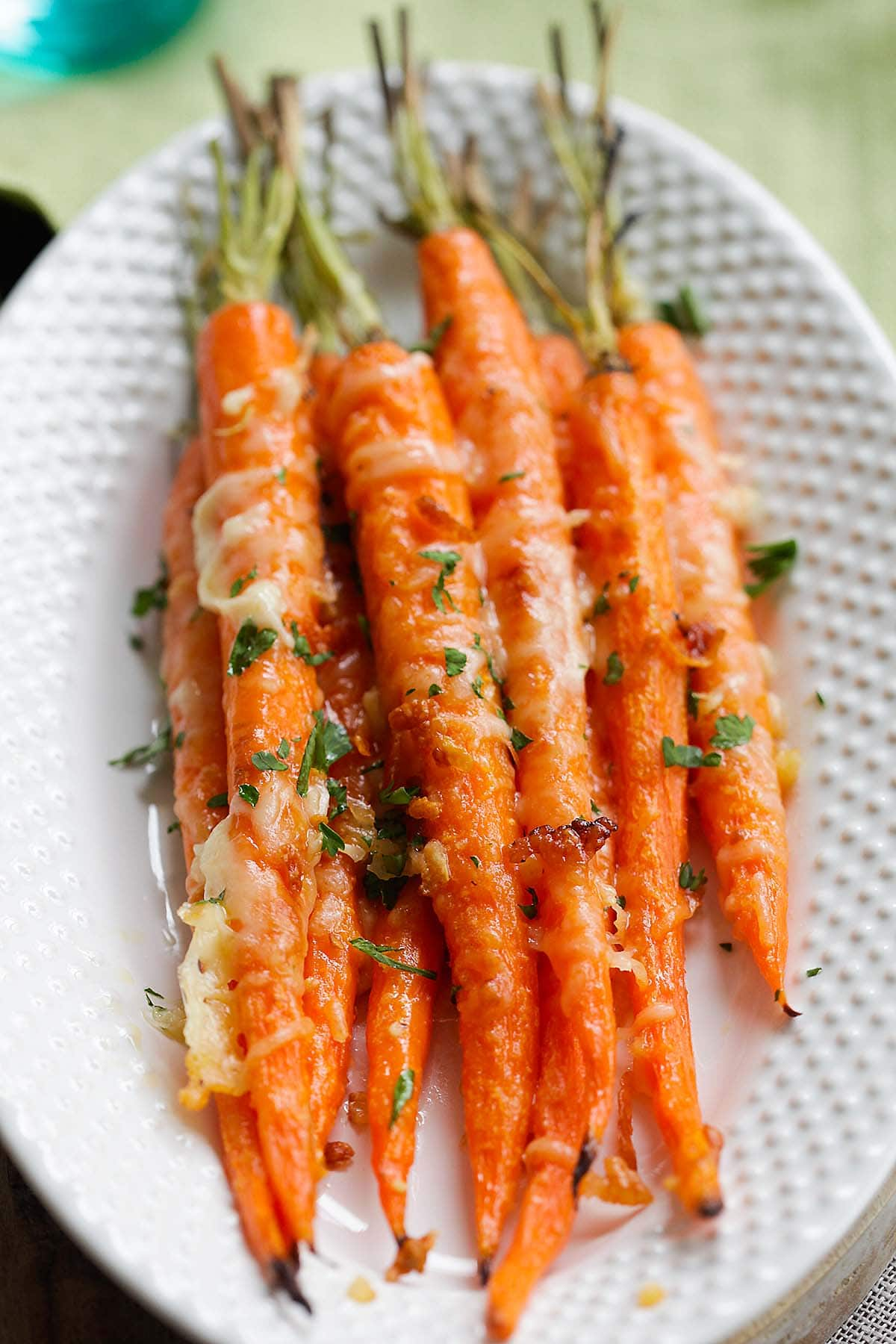 Garlic parmesan roasted carrot is one of the best savory carrot recipes.