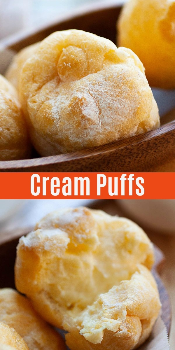 Cream Puffs - this yummy cream puff recipe is perfectly fluffy and creamy. It's so easy to make and is sure to impress your guests!