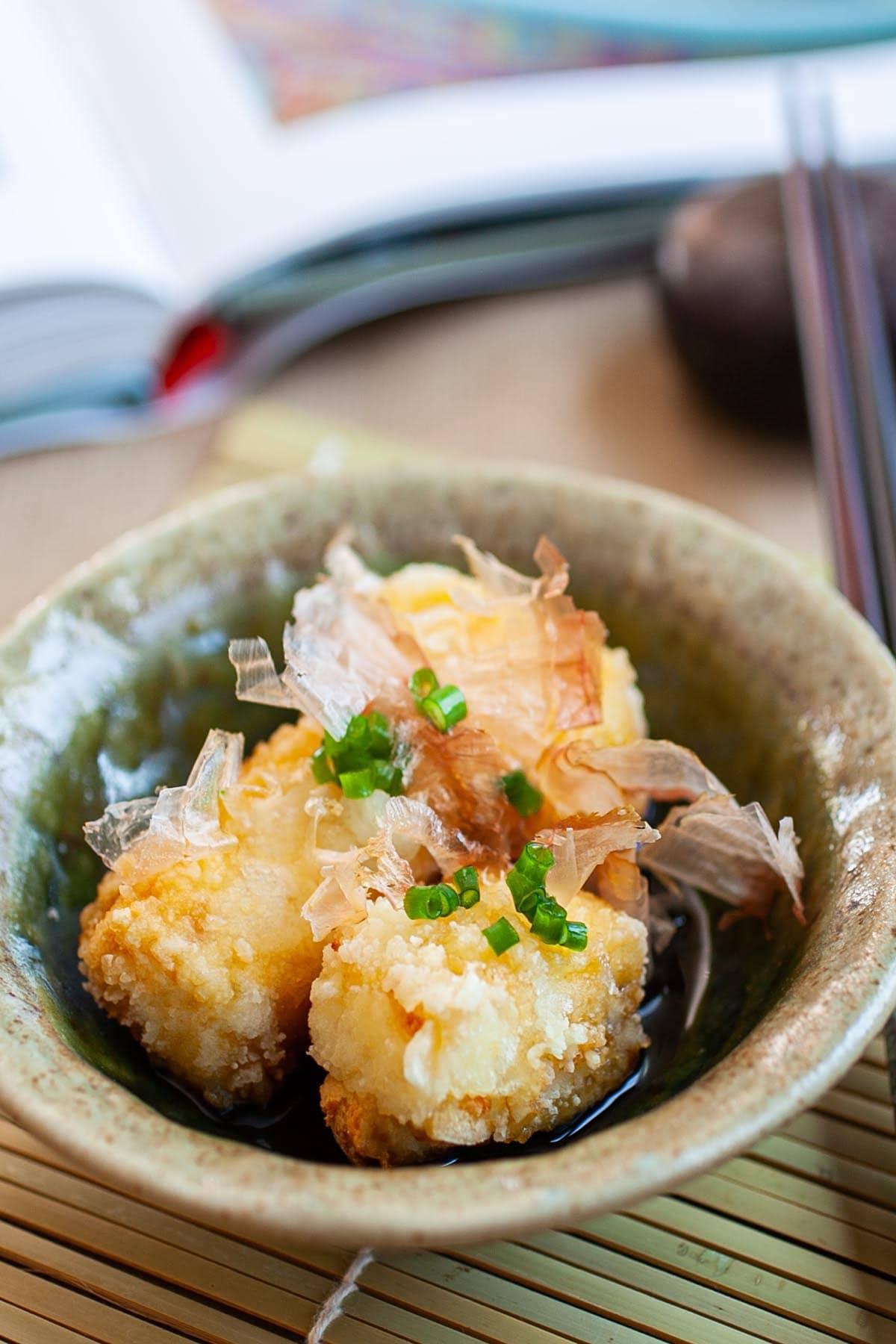 Agedashi tofu recipe.