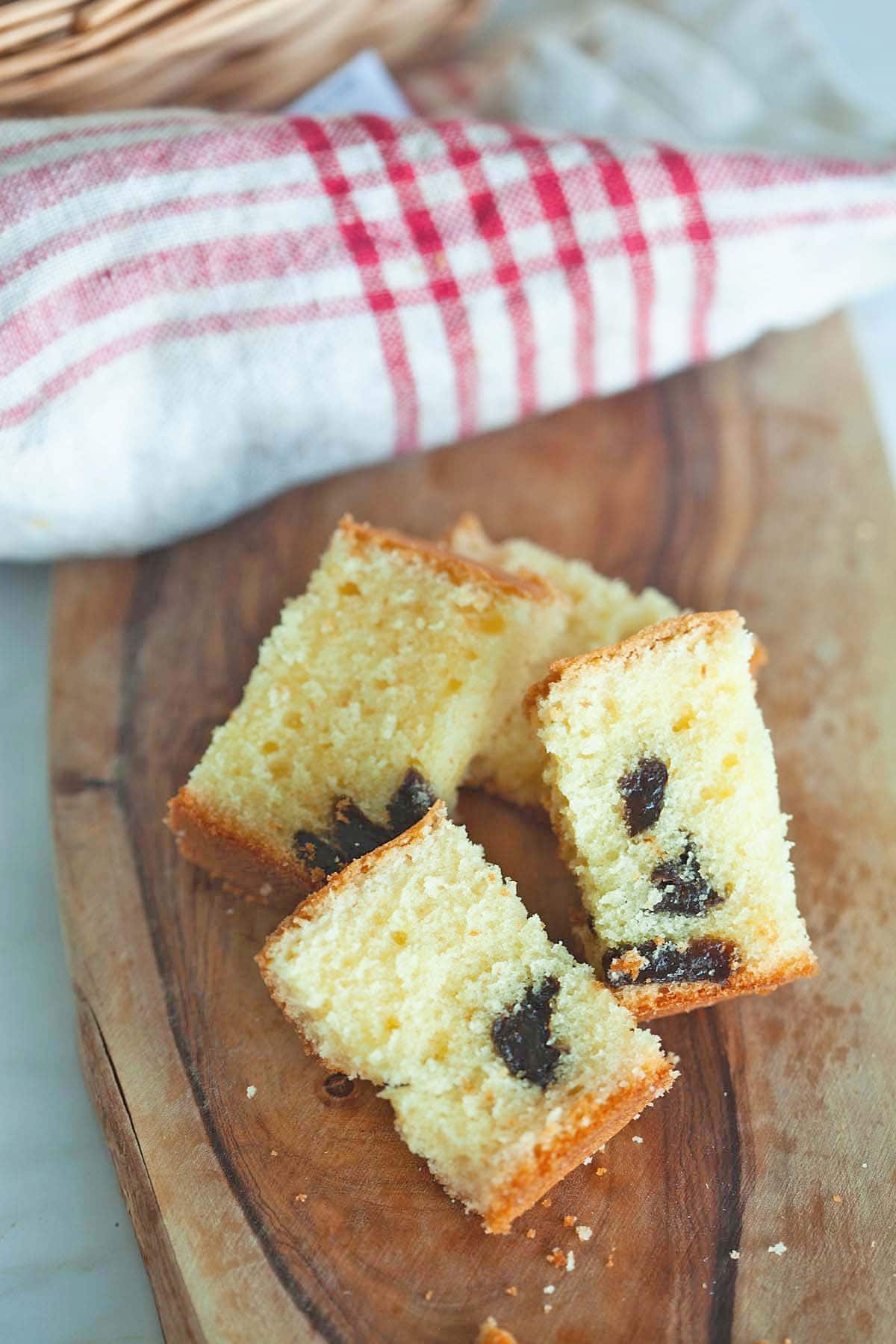 Easy brandy butter cake recipe with prune.