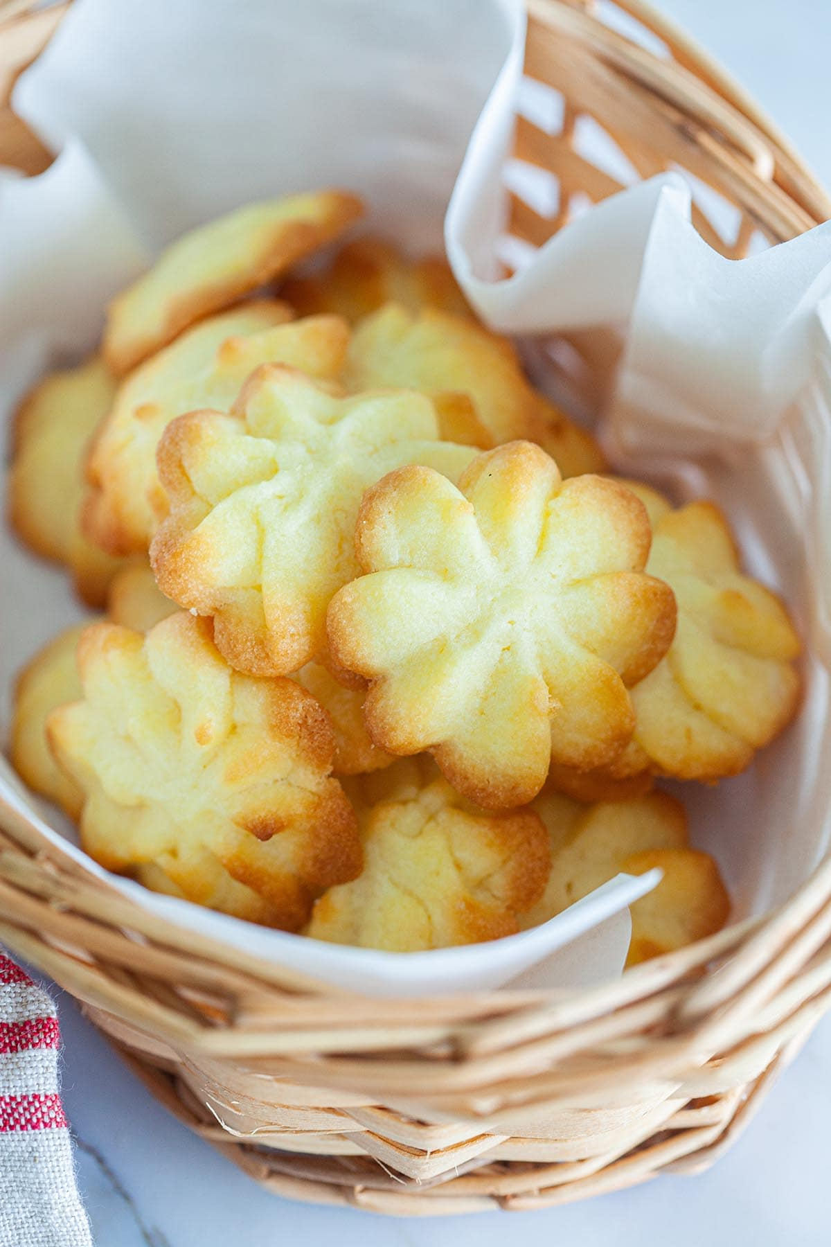 Danish butter cookies in a tray.