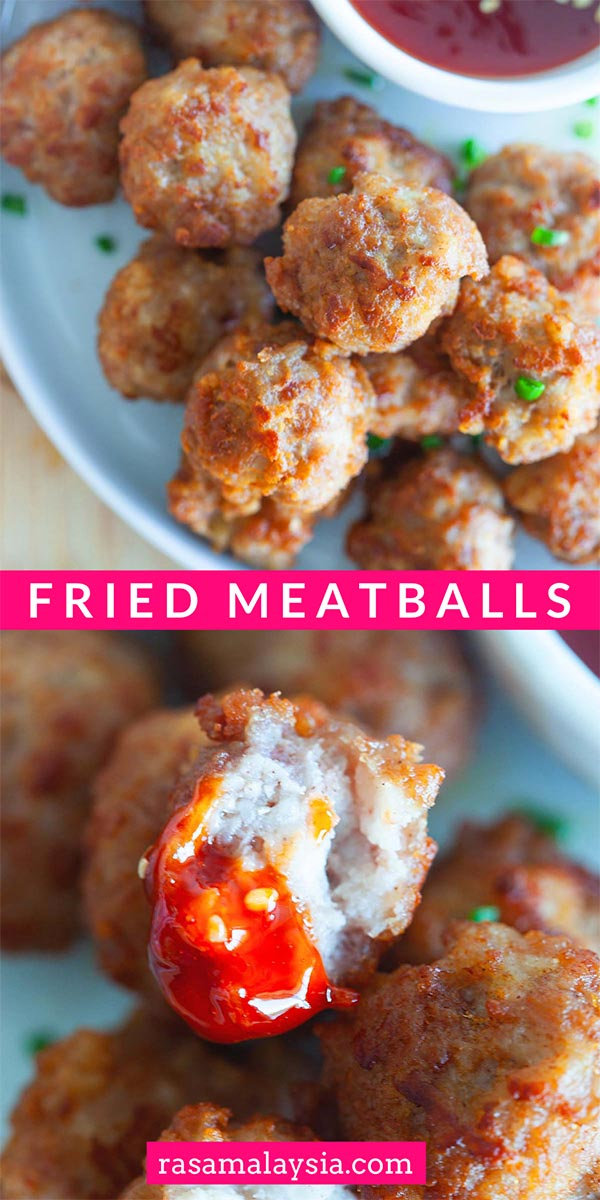 Everyone loves meatballs. This is a Chinese meatballs recipe where the meatballs are fried. Easy and delicious meatballs recipe that everyone will love.