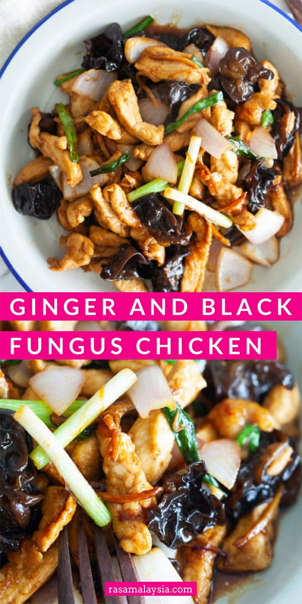 Ginger and black fungus chicken is a plain and humble dish that anyone can whip up in their kitchen. It's delicious and goes well with steamed rice.