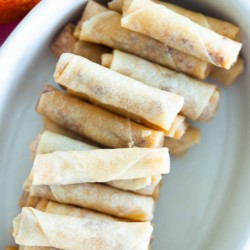 Mini Spring Rolls With Chicken Floss