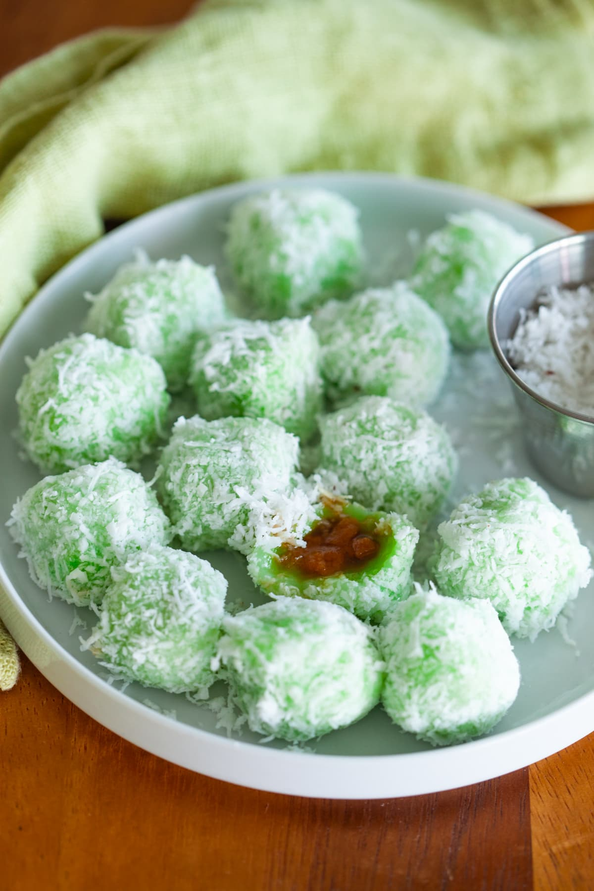 Onde-onde rolled in with some fresh grated coconut.