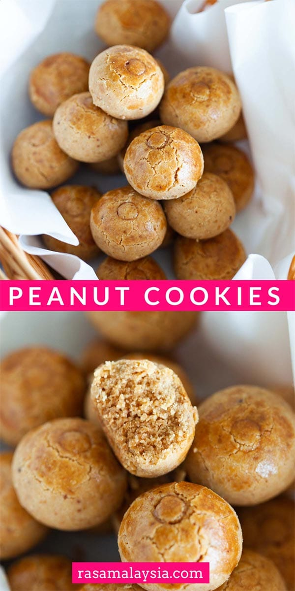 The best homemade Peanut Cookies for Lunar New Year. This easy peanut cookies recipe calls for six (6) ingredients, so crumbly and yummy!