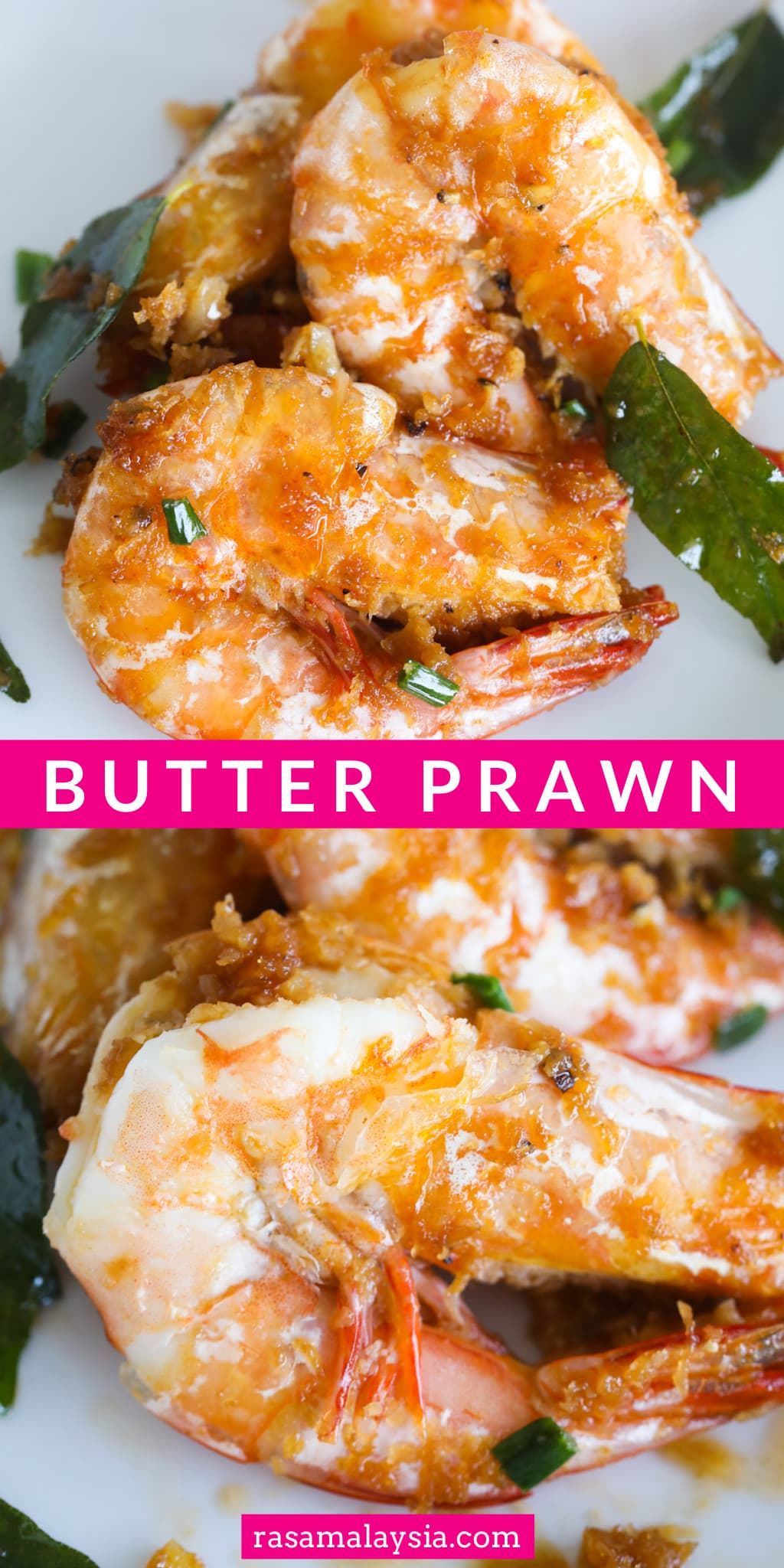 Butter Prawn is a Malaysian recipe that is buttery, salty, sweet, spicy, and garlicky. The main ingredients are prawn, butter, grated coconut and curry leaves.