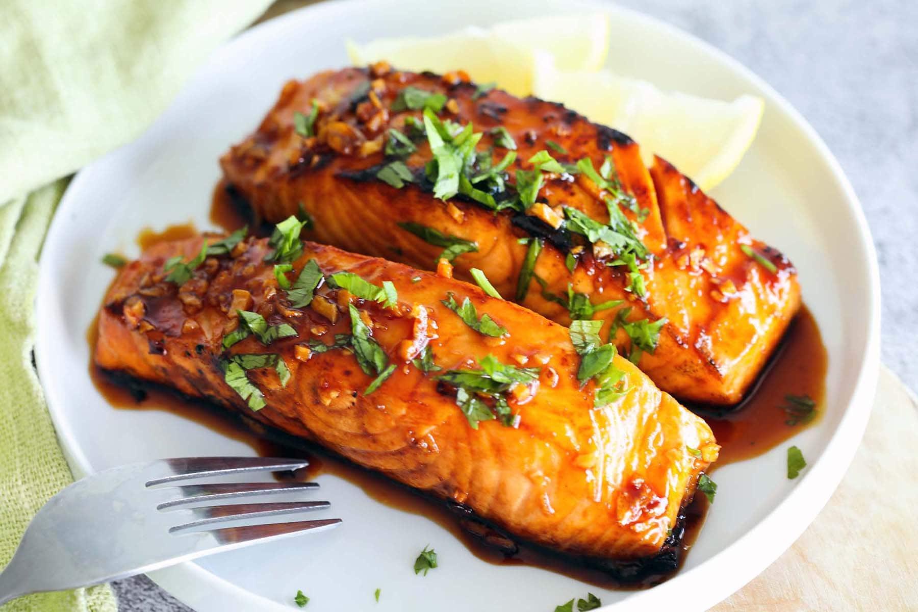 Honey sriracha salmon
