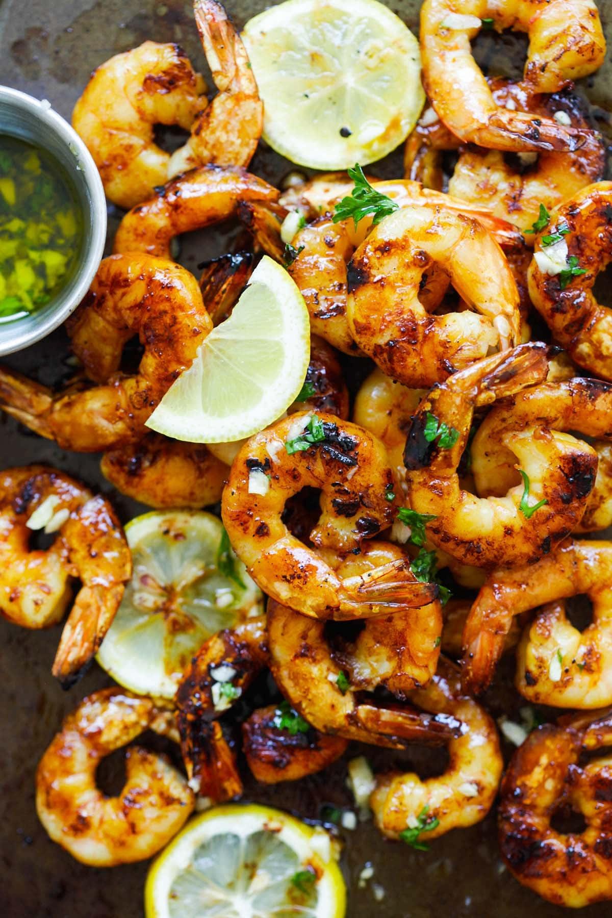 Grilled shrimp recipe with honey Cajun seasonings.