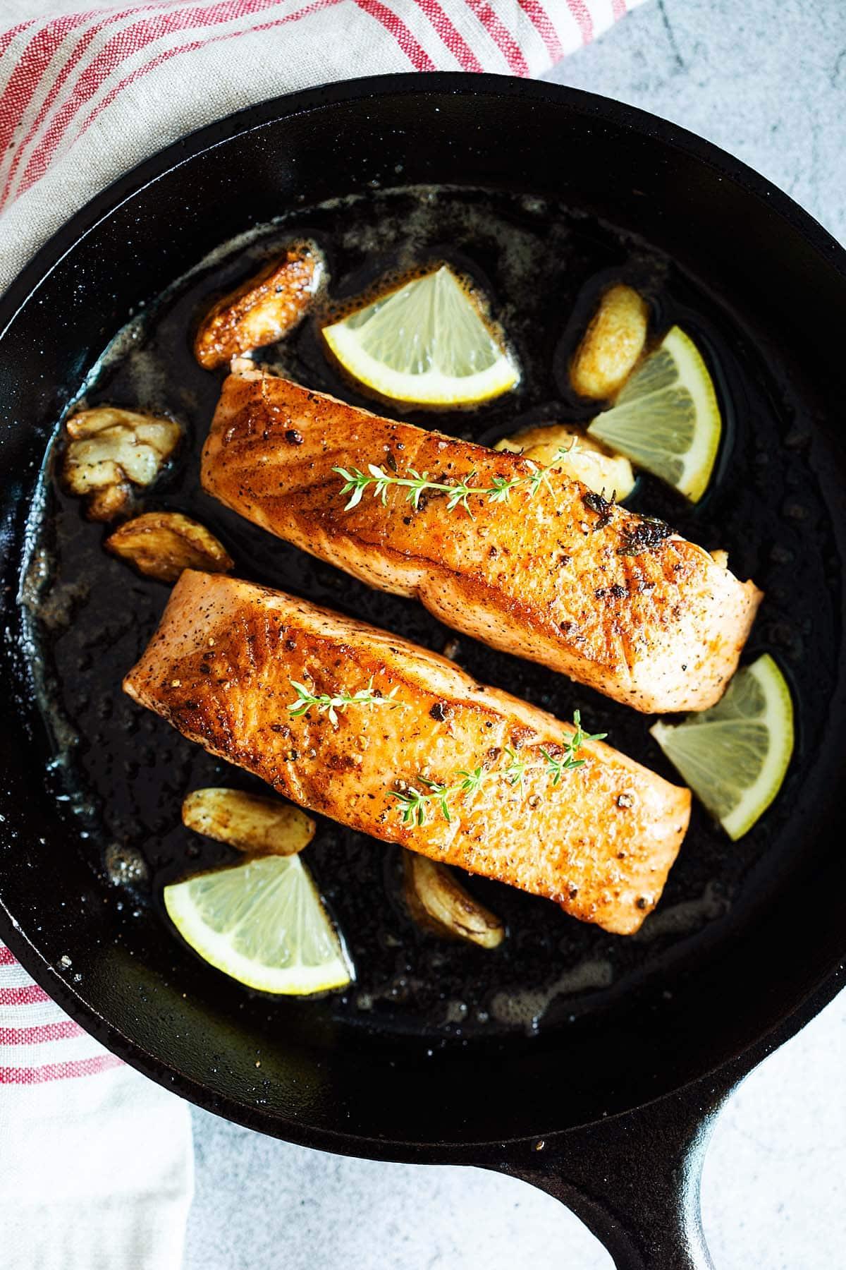 Pan seared salmon.