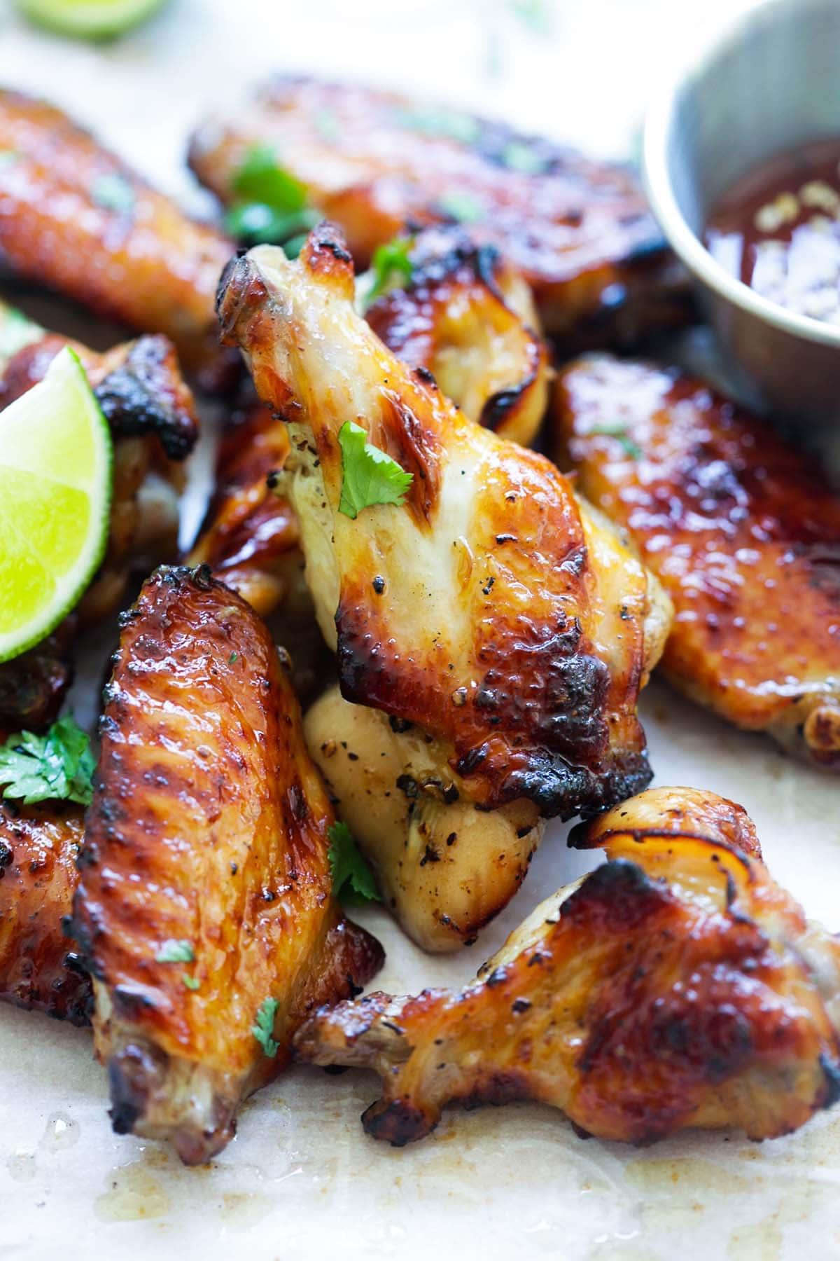 Easy BBQ chicken wings with sweet Thai seasonings.