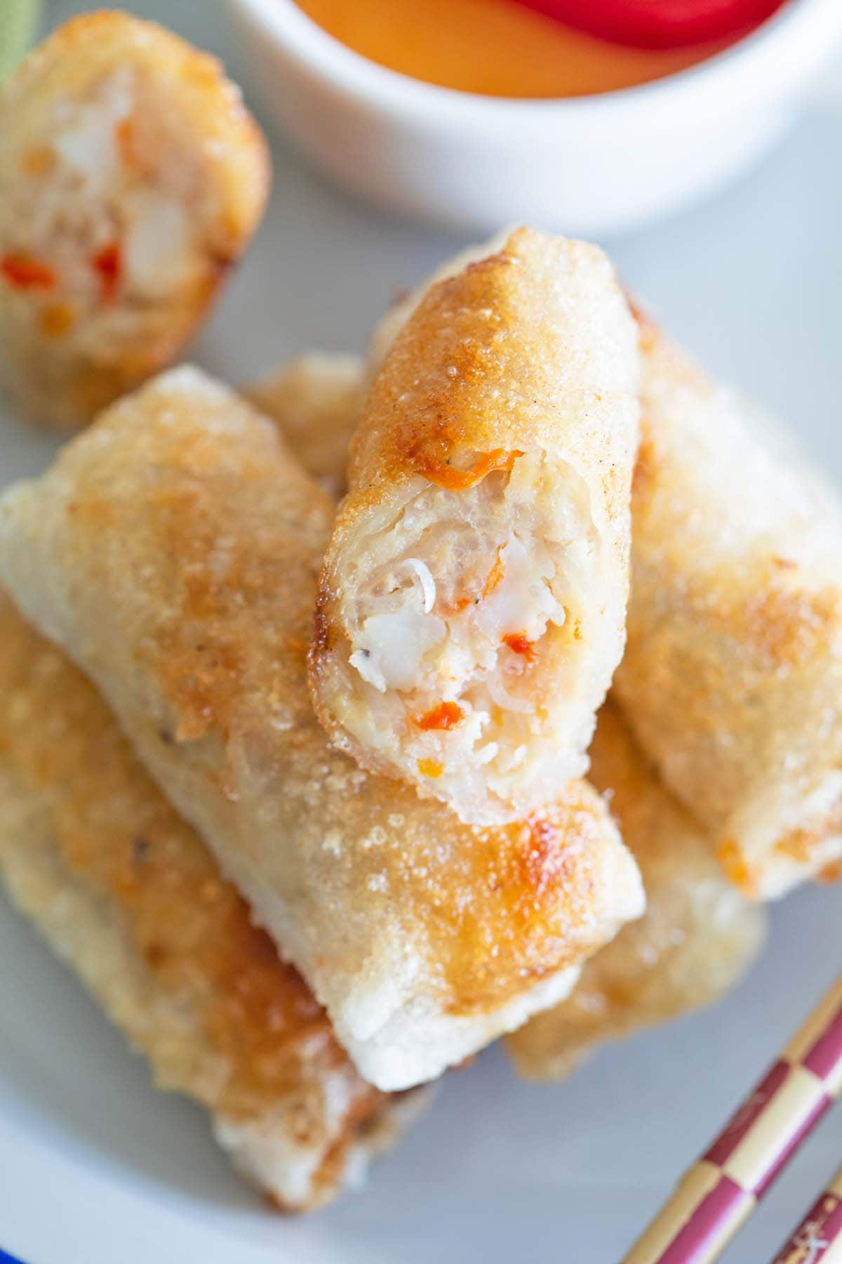 Best Vietnamese spring rolls (Cha Gio) recipe. These crispy fried Vietnamese rolls are crispy with ground pork filling and served with a dipping sauce.