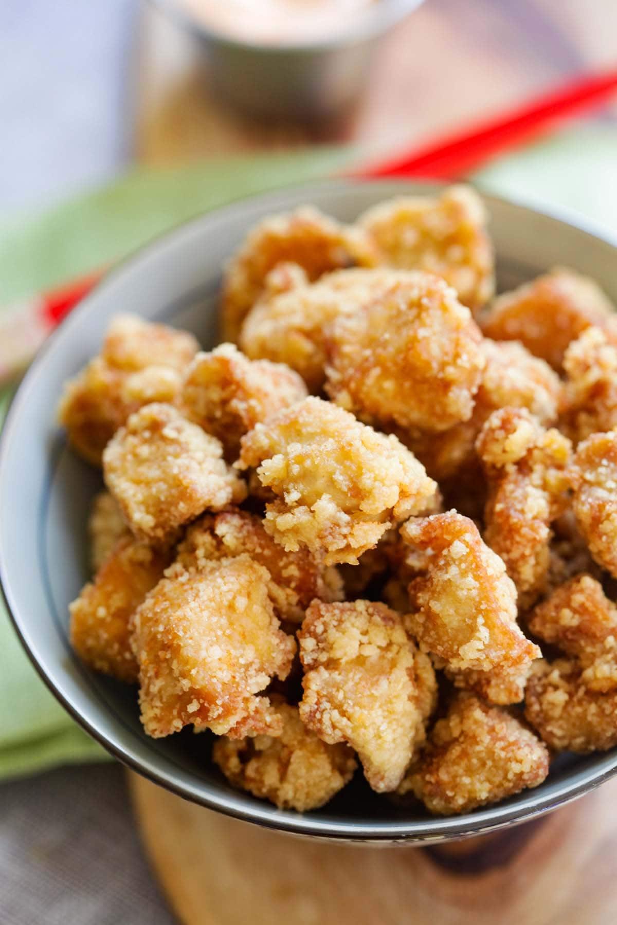 How to make chicken karaage.