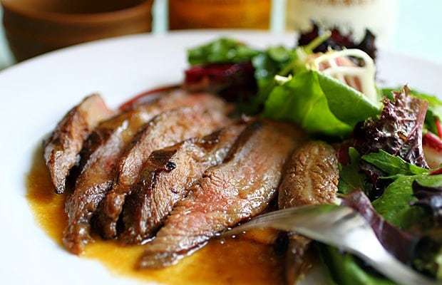 Flank Steak with Miso Butter