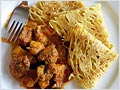 Chicken Curry (with Roti Jala or Malaysian Lacy Pancakes)