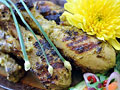 Grilled Coconut Chicken with Lemon Basil
