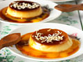Mango and Coconut Creme Caramel