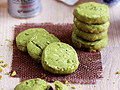 Matcha Almond Cookies