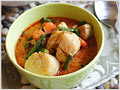 Thai Red Curry with Chicken and Scallops