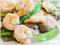 Shrimp with Snowpeas