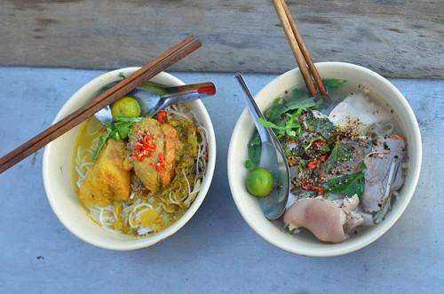 Noodles at Cai Rang Floating Market