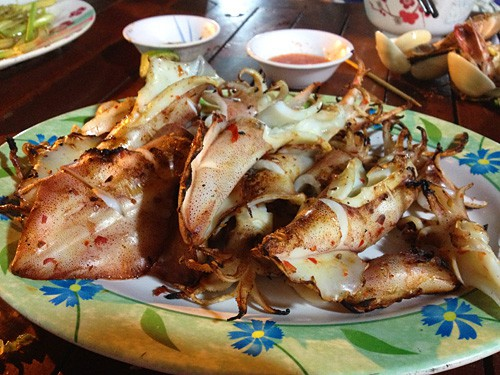 Grilled Squid, Night Market, Phu Quoc