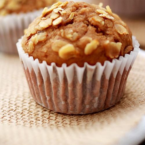Banana Oatmel Raisin Muffins