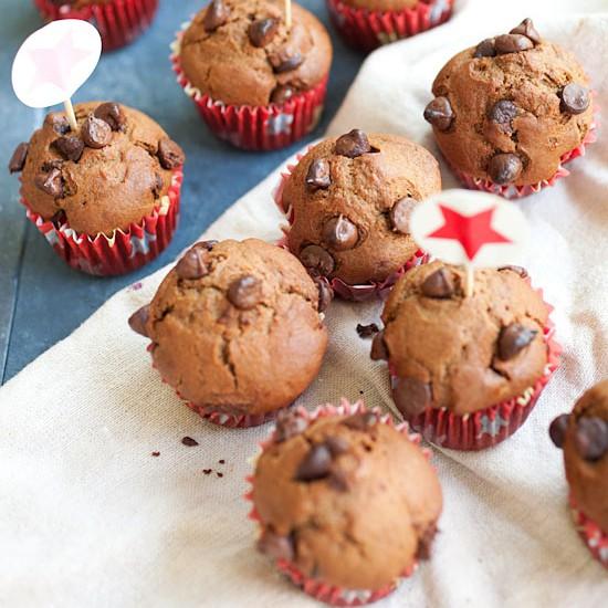 Nigella's Chocolate Chocolate Chip Muffins
