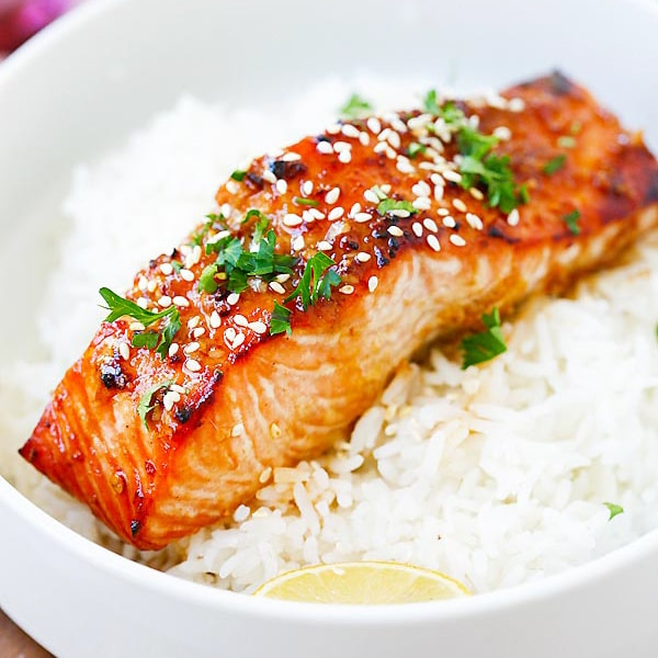 Ginger Garlic Baked Salmon