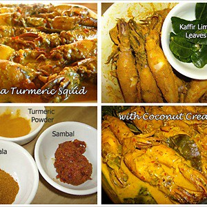 Masala Turmeric Squid with Coconut Cream Recipe | rasamalaysia.com