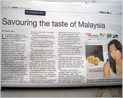Rasa Malaysia Featured in The New Straits Times
