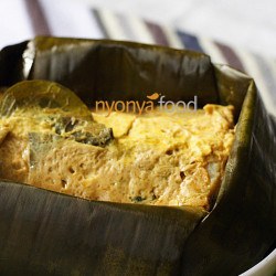 Nyonya Fish Custard Wrapped with Banana Leaves