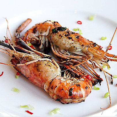 Pan-fried Prawns