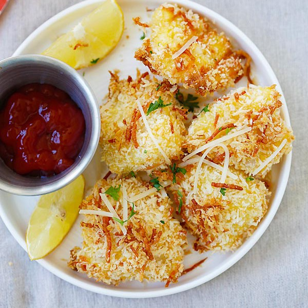 Parmesan Baked Fish Nuggets
