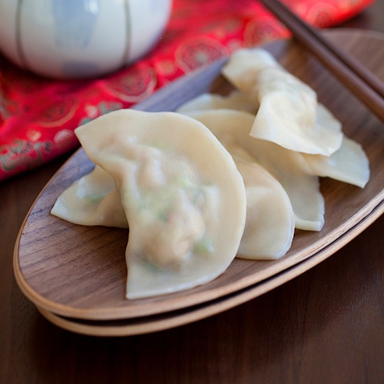 Pork Shrimp and Napa Cabbage Dumplings