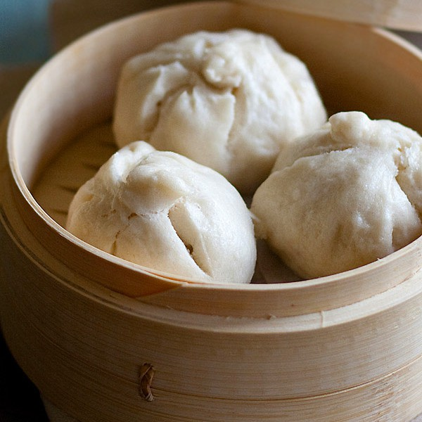 Red Bean Steamed Buns - soft, fluffy and pillowy steamed buns filled with red beans. The buns are so good you will want them every day with coffee!! | rasamalaysia.com