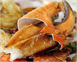 Salt and Pepper Mud Crab at Sydney Fish Market