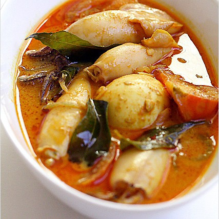 Squid Curry (Indian Gulai Sotong )