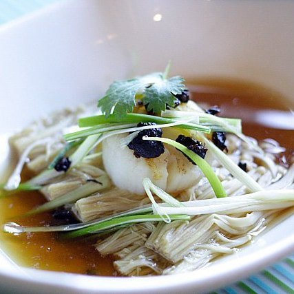 Steamed Scallops with Fermented Black Beans