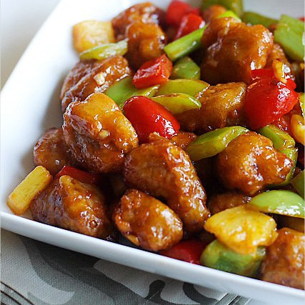 Panda express orange chicken with bacon easy delicious recipes sweet and sour pork forumfinder Choice Image